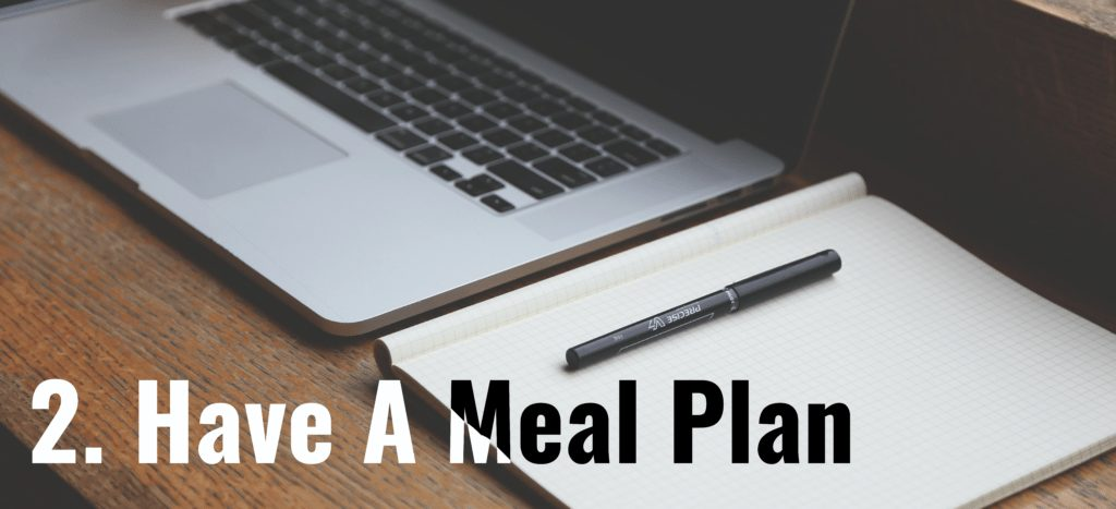 Blog Post picture have a meal plan